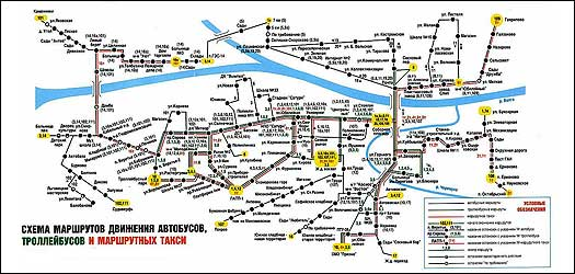 Ноябрьск схема движения автобусов